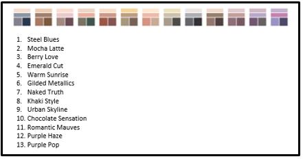 Eye Quad Colors