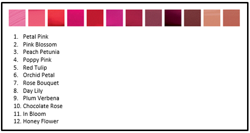 Ultra Hydrating Lip Color Choices